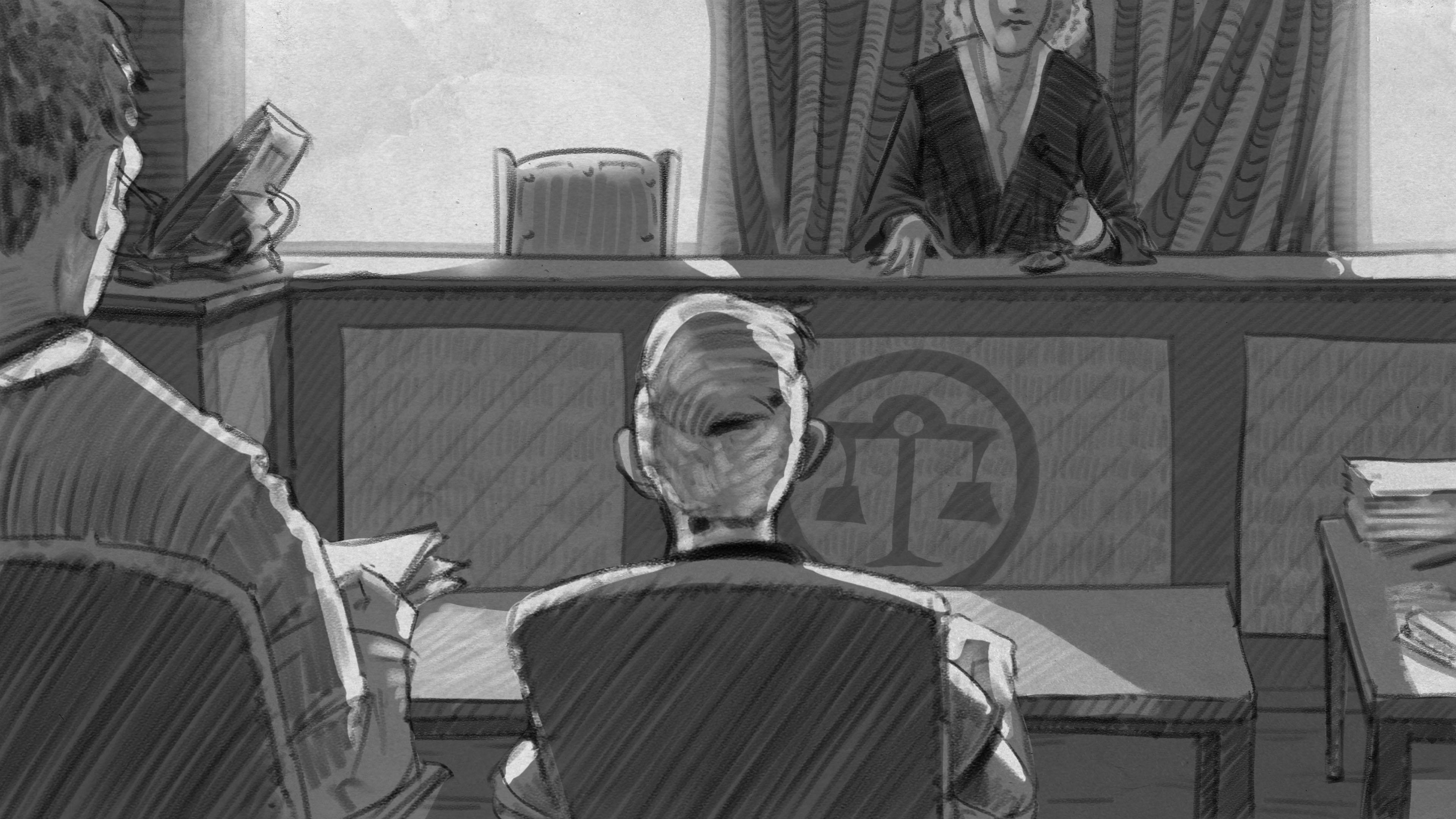 Illustration: Sohn sagt bei Anhörung vor Familienrichterin aus